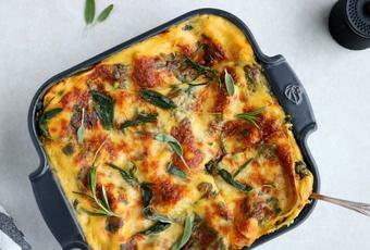 Butternut Squash, Spinach and Goat Cheese Lasagna